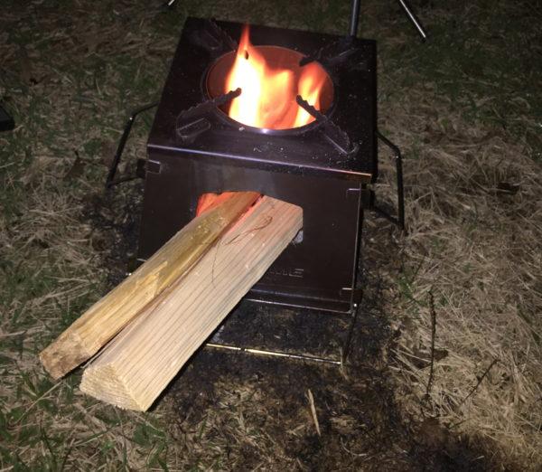若洲公園キャンプ場でお焚き火