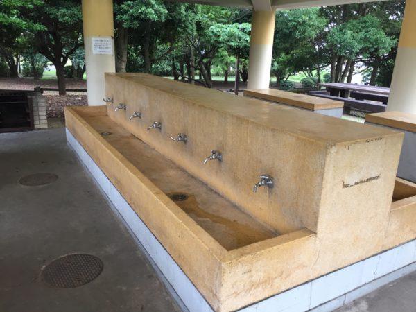 若洲公園キャンプ場の綺麗な洗い場