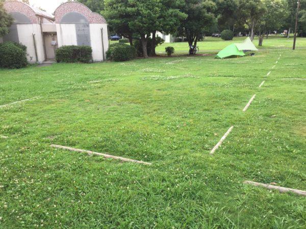 若洲公園キャンプ場のキャンプサイト