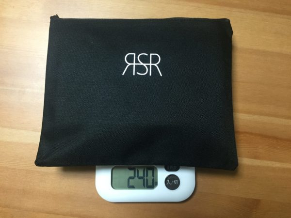 「RSR Naturestove」ケース込みの重量