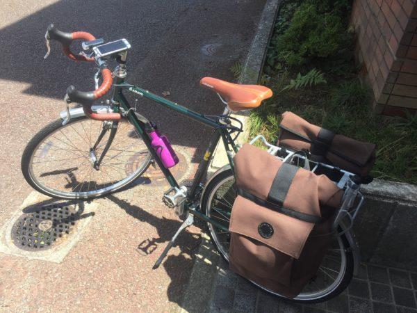 キャンプ用バイクパッキング例