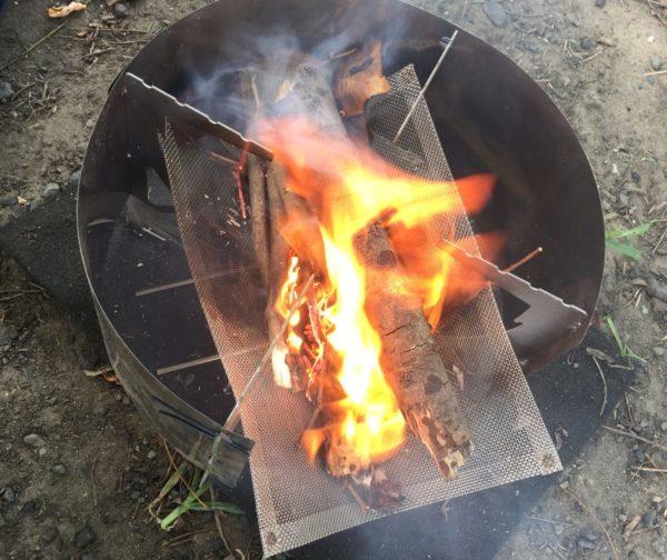 「RSR Naturestove」火がついた状態