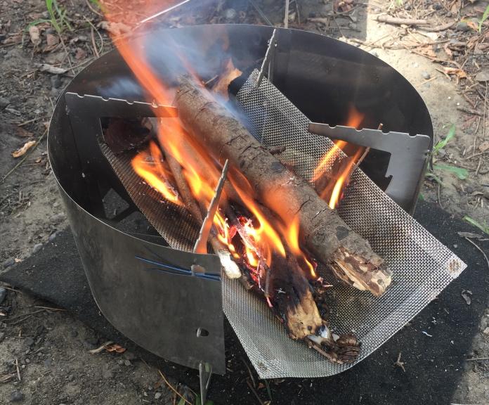 「RSR Naturestove」焚き火ができている状態