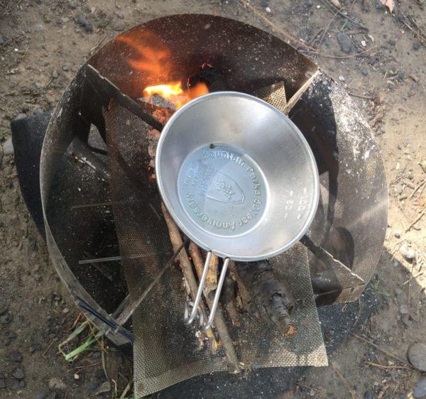 「RSR Naturestove」シェラフカップを置いた状態