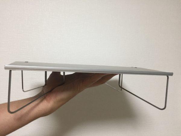 「SOTO フィールドホッパー」組み立て時手に持ったサイズ感