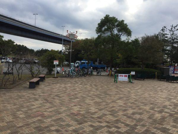 若洲公園キャンプ場駐輪場