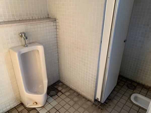 平和島公園キャンプ場のトイレ