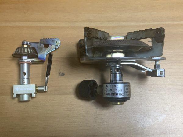 「マイクロマックス ウルトラライト」と「キャプテンスタッグ M-7900 オーリック 小型ガスバーナーコンロ」の比較