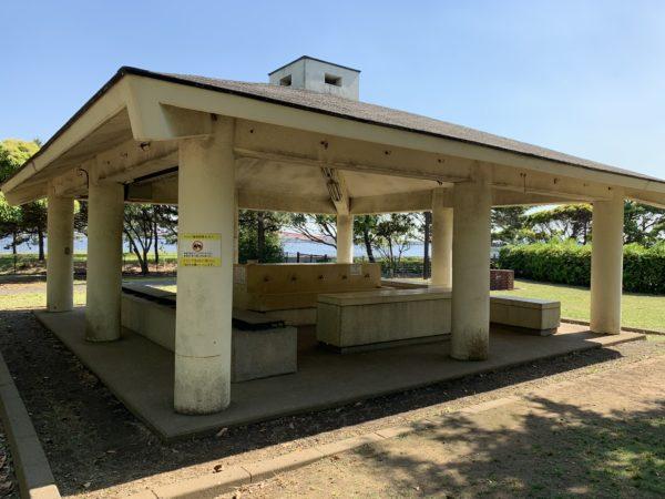 城南島海浜公園キャンプ場の洗い場