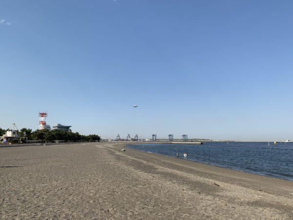 城南島海浜公園のつばさ浜