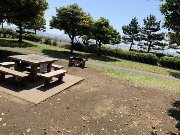 城南島海浜公園キャンプ場の区画