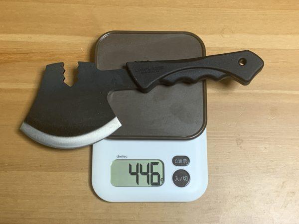 燕三条乃斧の実際の重量