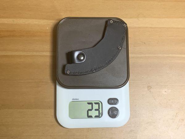 燕三条乃斧のケースの重量