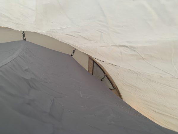 「カマボコテントミニ」冬キャンプで発生した結露