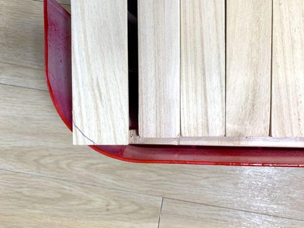 無印良品「頑丈収納ボックス」テーブル化の天板カット_2