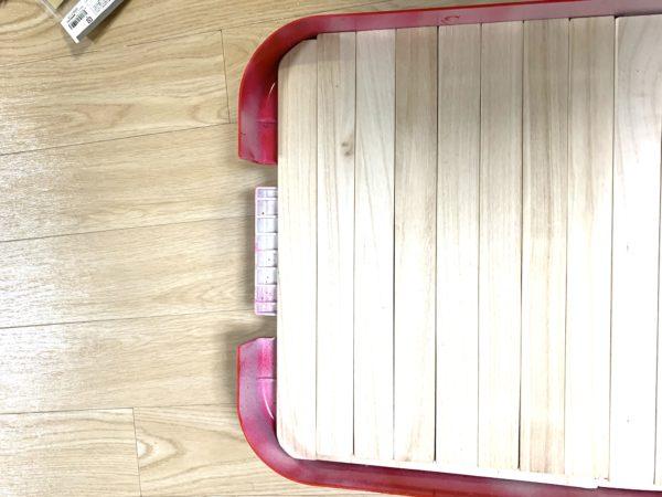 無印良品「頑丈収納ボックス」テーブル化の天板カット_4