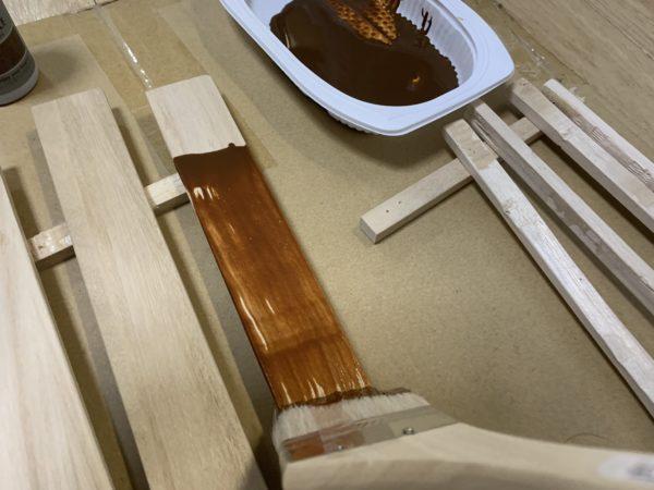 無印良品「頑丈収納ボックス」テーブル化グラデーション塗料_2