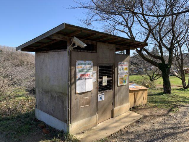 成田ゆめ牧場ファミリーオートキャンプ場のゴミ捨て場