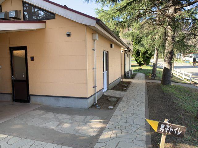 成田ゆめ牧場ファミリーオートキャンプ場のトイレ