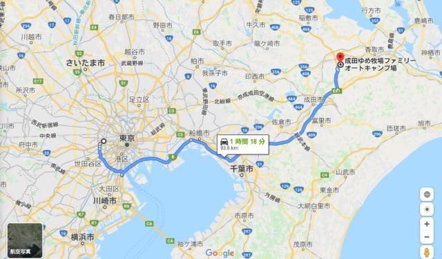 成田ゆめ牧場ファミリーオートキャンプ場地図