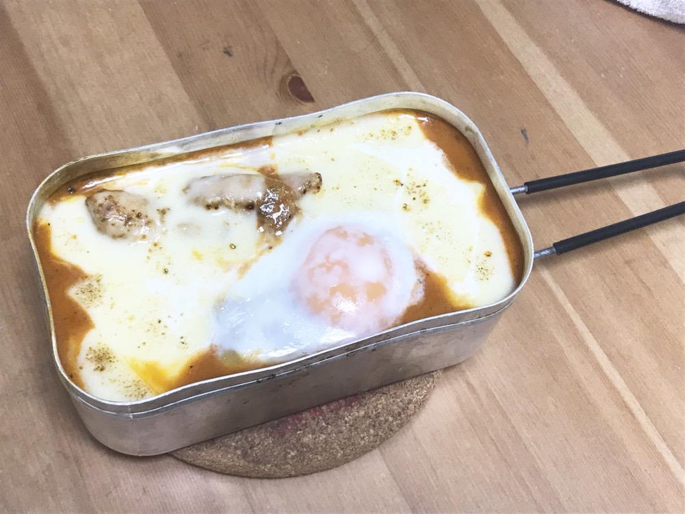 メスティン 焼きチーズカレー