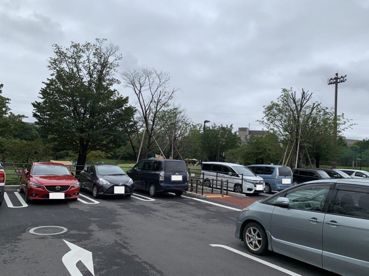 大泉さくら運動公園の駐車場