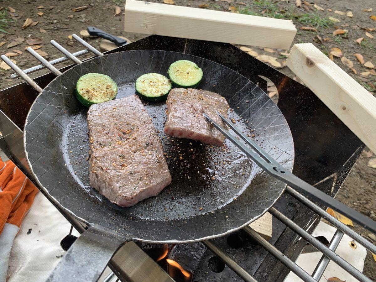 kushi_z_asiで焼くステーキ