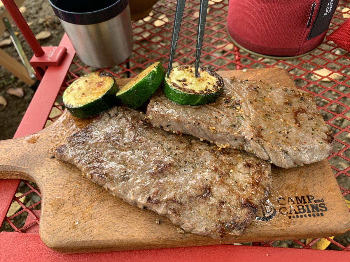 kushi_z_asiを駆使して焼いたステーキ