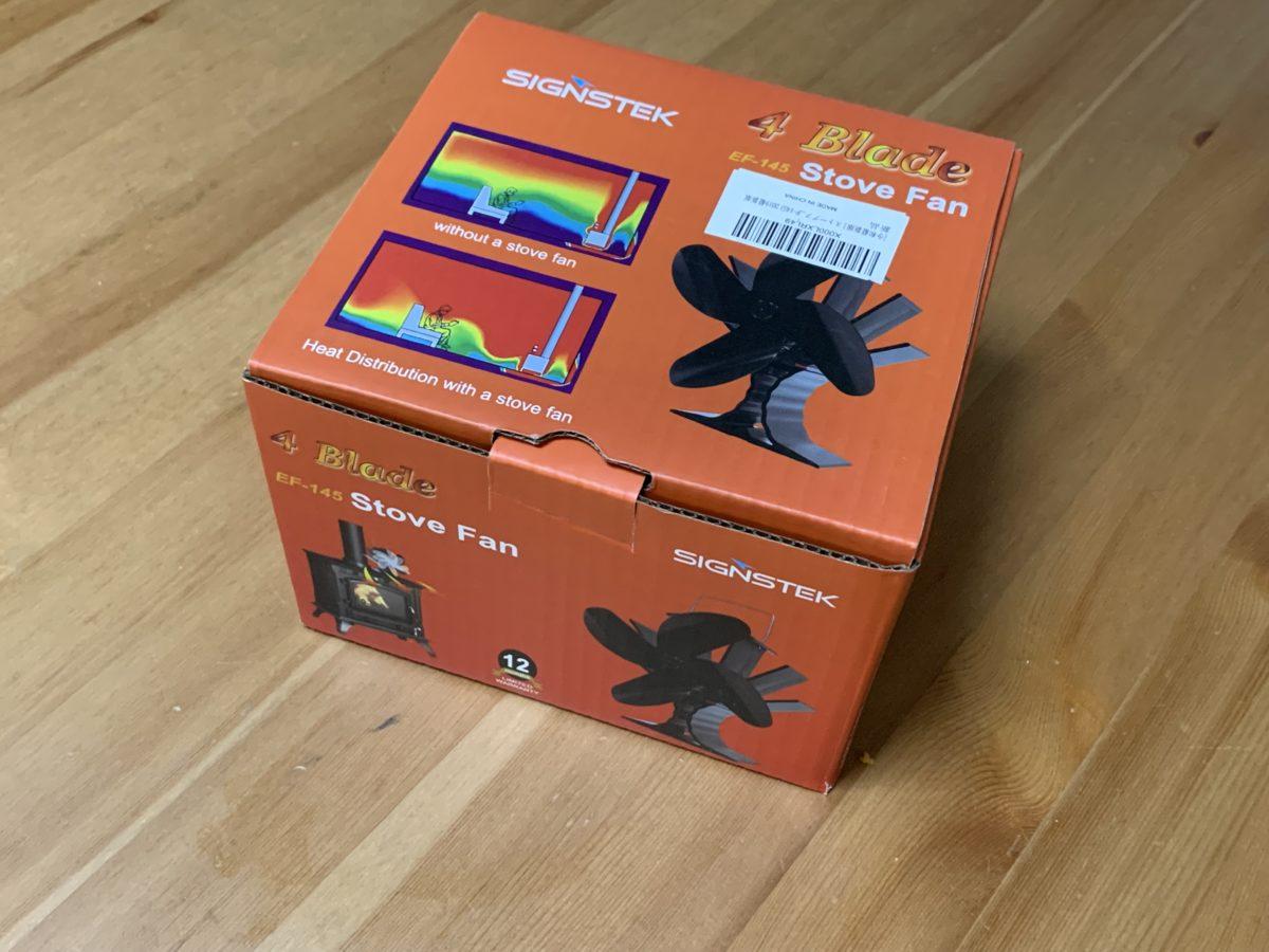 signstek ストーブファンの包装箱