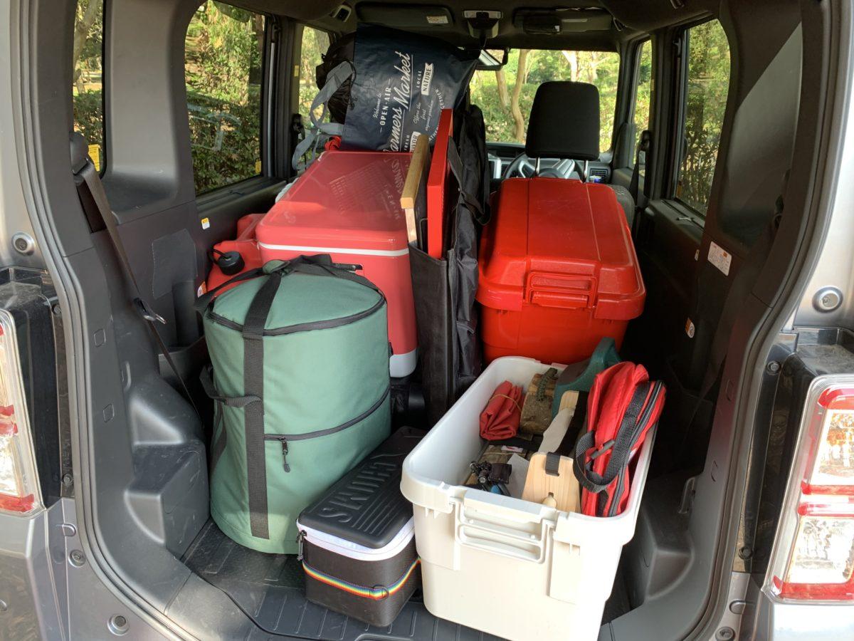 キャンプ車での積載