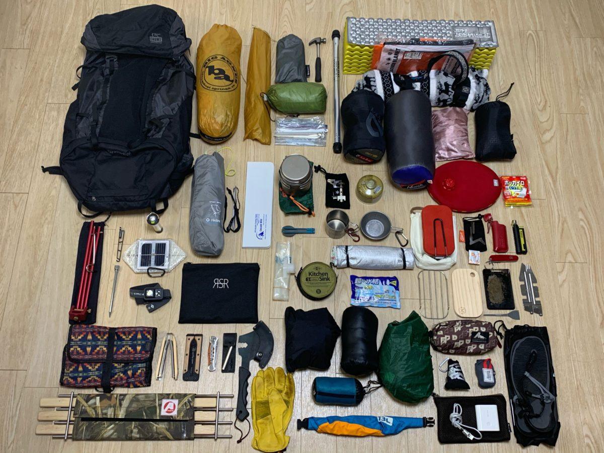ソロキャンプ道具一式