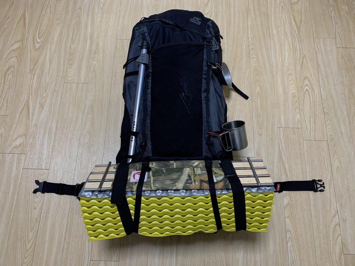 60Lバックパックのソロキャンプ