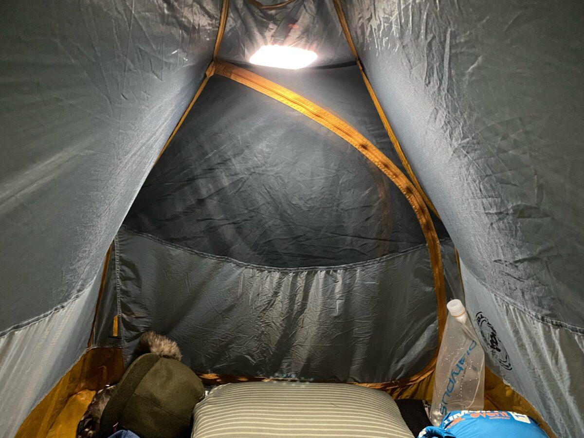 テント内で使った「クレイモアウルトラミニ」
