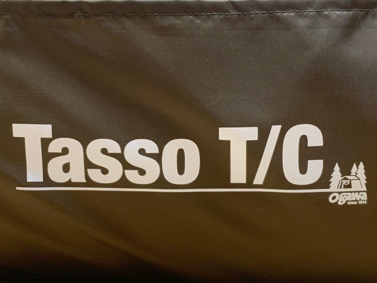 「タッソ T/C」収納袋のロゴ